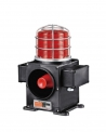 Qlight SCDFL-WS-12-P, 12VDC LED Warning Light with Continuous or flashing light with signal horn