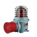 Qlight SESA ATEX 230VAC Explosion Proof Bulb Revolving Warning Light and Electric Horn Combinations,