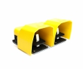 Emas dual footswitch PDKA22BB10 aluminum yellow cap 2x (1xNC + 1xNO) contacts