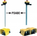 Emas PDABE metal stand with emergency stop for PDKA22 footswitches